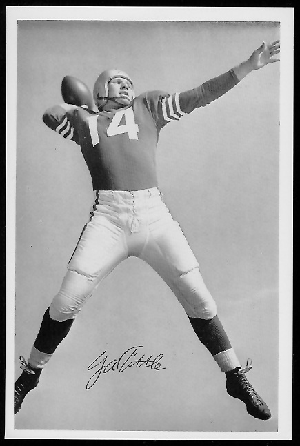 Y.A. Tittle 1958 49ers Team Issue football card