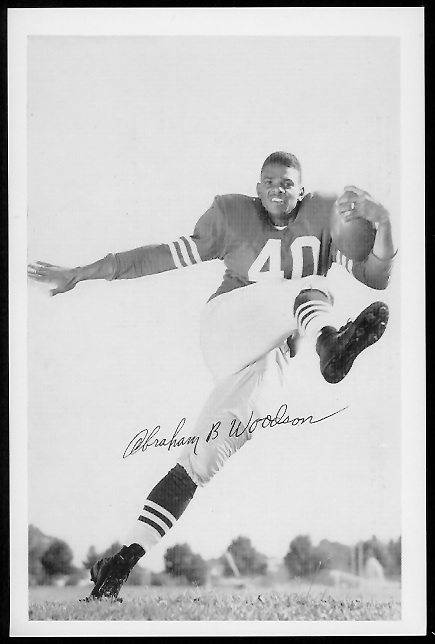 Abe Woodson 1958 49ers Team Issue football card