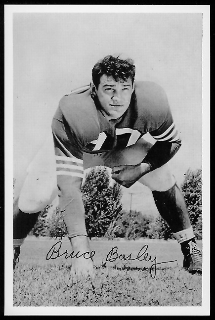 Bruce Bosley 1958 49ers Team Issue football card