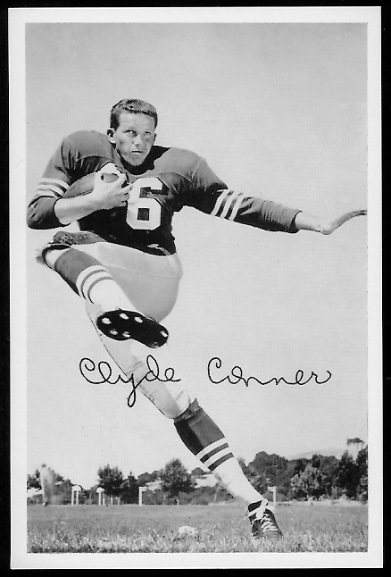 Clyde Conner 1958 49ers Team Issue football card