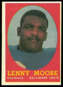 Lenny Moore 1958 Topps football card