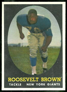 Roosevelt Brown 1958 Topps football card
