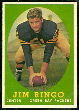 Jim Ringo 1958 Topps football card