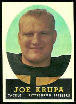 Joe Krupa 1958 Topps football card