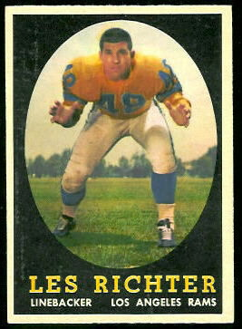 Les Richter 1958 Topps football card