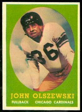 John Olszewski 1958 Topps football card