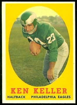Ken Keller 1958 Topps football card