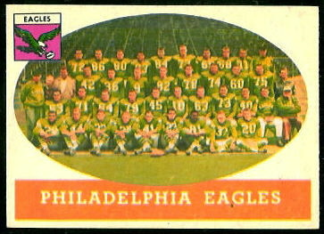 Philadelphia Eagles Team 1958 Topps football card