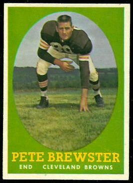 Pete Brewster 1958 Topps football card
