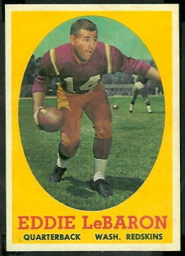 Eddie LeBaron 1958 Topps football card