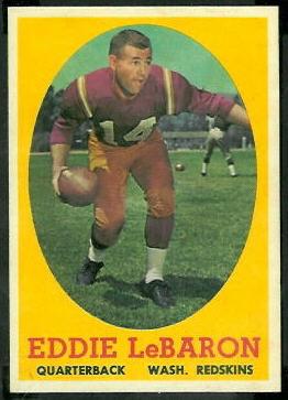 Eddie LeBaron 1958 Topps football card