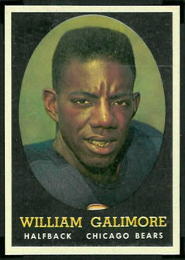 Willie Galimore 1958 Topps football card