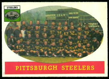 Pittsburgh Steelers Team 1958 Topps football card
