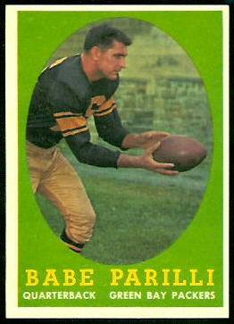 Babe Parilli 1958 Topps football card