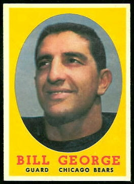 Bill George 1958 Topps football card