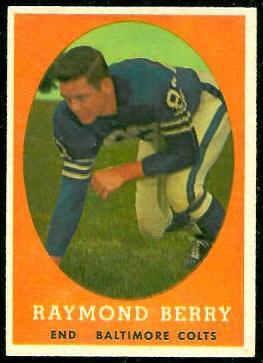 Raymond Berry 1958 Topps football card