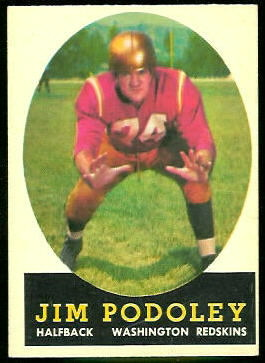 Jim Podoley 1958 Topps football card