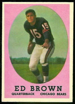 Ed Brown 1958 Topps football card