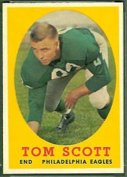 Tom Scott 1958 Topps football card