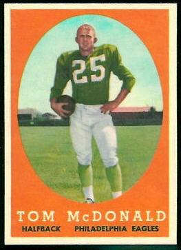 Tommy McDonald 1958 Topps football card