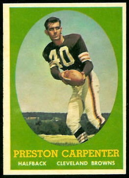 Preston Carpenter 1958 Topps football card