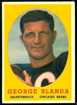 George Blanda 1958 Topps football card