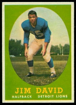 Jim David 1958 Topps football card