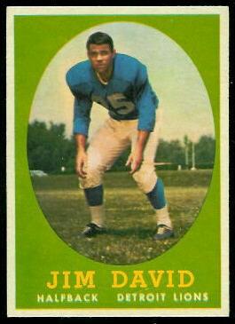 Jim David 1958 Topps football card