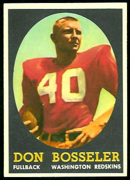 Don Bosseler 1958 Topps football card