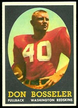 Don Bosseler 1958 Topps football card