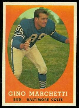 Gino Marchetti 1958 Topps football card