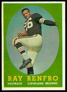 Ray Renfro 1958 Topps football card