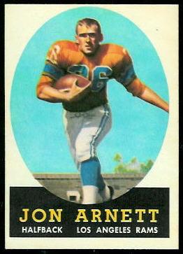 Jon Arnett 1958 Topps football card