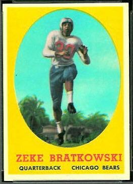 Zeke Bratkowski 1958 Topps football card