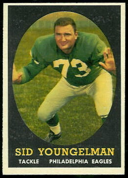 Sid Youngelman 1958 Topps football card