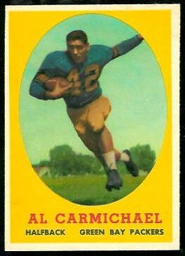 Al Carmichael 1958 Topps football card
