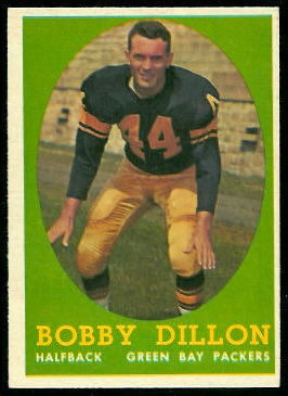 Bobby Dillon 1958 Topps football card