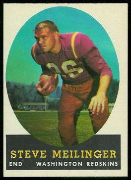 Steve Meilinger 1958 Topps football card