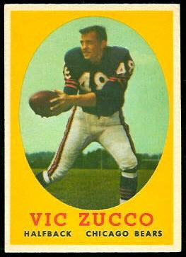 Vic Zucco 1958 Topps football card