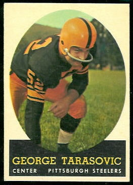 George Tarasovic 1958 Topps football card