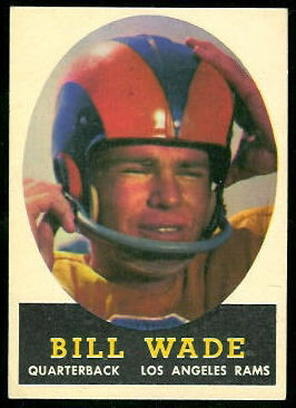 Bill Wade 1958 Topps football card