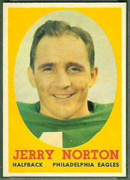 Jerry Norton 1958 Topps football card