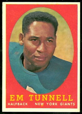 Emlen Tunnell 1958 Topps football card