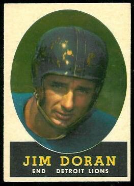 Jim Doran 1958 Topps football card