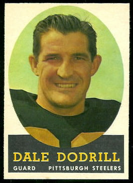 Dale Dodrill 1958 Topps football card
