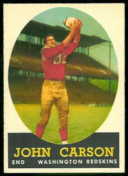 John Carson 1958 Topps football card