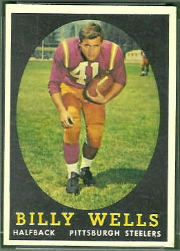 Billy Wells 1958 Topps football card