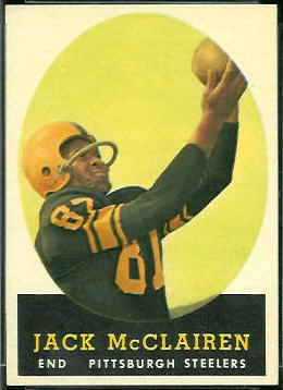 Jack McClairen 1958 Topps football card