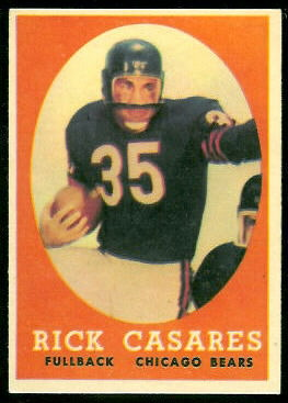 Rick Casares 1958 Topps football card