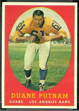 Duane Putnam 1958 Topps football card